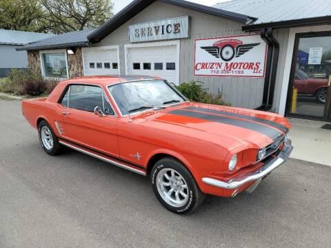 1966 Ford Mustang for sale at CRUZ'N MOTORS - Classics in Spirit Lake IA