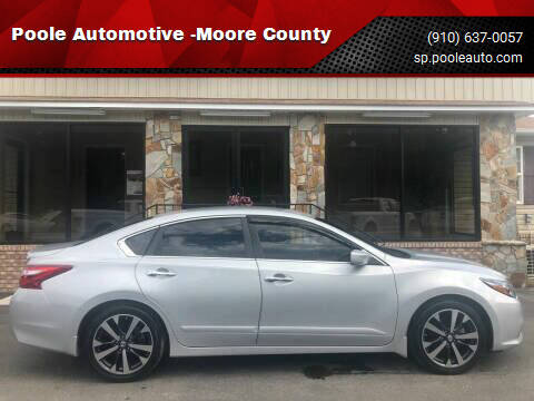 2016 Nissan Altima for sale at Poole Automotive -Moore County in Aberdeen NC