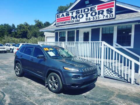 2015 Jeep Cherokee for sale at EASTSIDE MOTORS in Tulsa OK