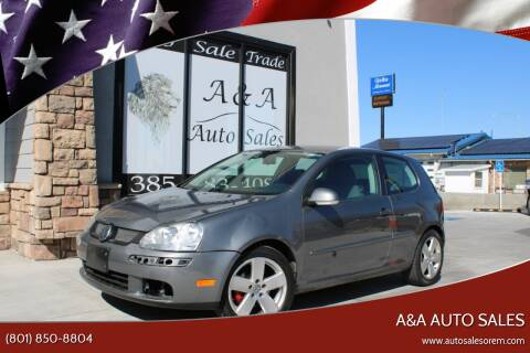 2009 Volkswagen Rabbit for sale at A&A Auto Sales in Orem UT