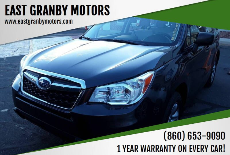 2016 Subaru Forester for sale at EAST GRANBY MOTORS in East Granby CT