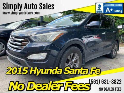 2015 Hyundai Santa Fe Sport for sale at Simply Auto Sales in Palm Beach Gardens FL