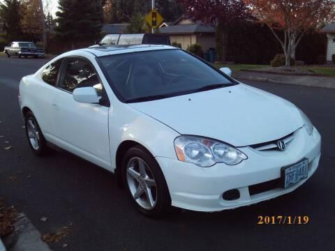 2003 Acura RSX for sale at Redline Auto Sales in Vancouver WA