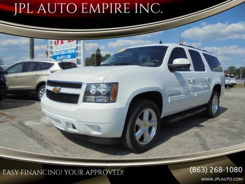 2013 Chevrolet Suburban for sale at JPL AUTO EMPIRE INC. in Auburndale FL