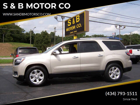 2014 GMC Acadia for sale at S & B MOTOR CO in Danville VA
