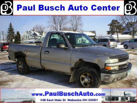 2000 Chevrolet Silverado 1500 for sale at Paul Busch Auto Center Inc in Wabasha MN