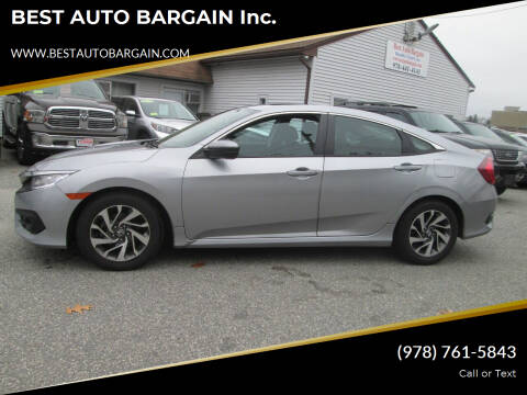 2016 Honda Civic for sale at BEST AUTO BARGAIN inc. in Lowell MA
