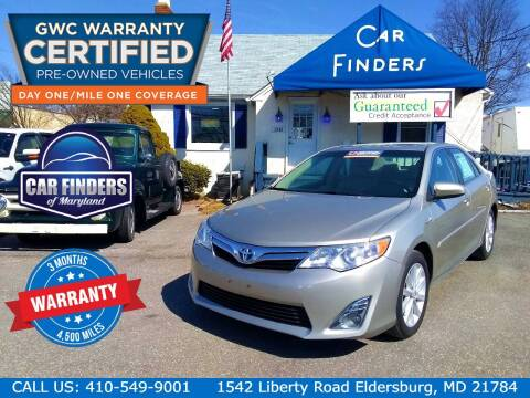 2014 Toyota Camry Hybrid for sale at CAR FINDERS OF MARYLAND LLC - Certified Cars in Eldersburg MD