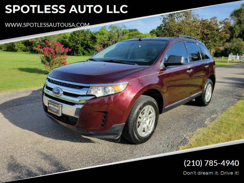 2011 Ford Edge for sale at SPOTLESS AUTO LLC in San Antonio TX