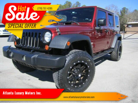 2007 Jeep Wrangler Unlimited for sale at Atlanta Luxury Motors Inc. in Buford GA