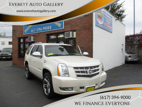 2012 Cadillac Escalade for sale at Everett Auto Gallery in Everett MA