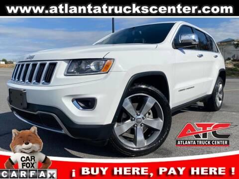 2014 Jeep Grand Cherokee for sale at ATLANTA TRUCK CENTER LLC in Brookhaven GA