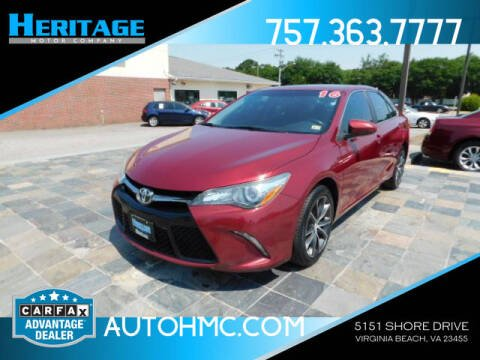 2016 Toyota Camry for sale at Heritage Motor Company in Virginia Beach VA