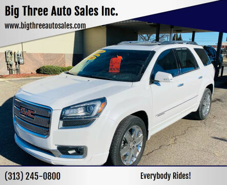 2016 GMC Acadia for sale at Big Three Auto Sales Inc. in Detroit MI