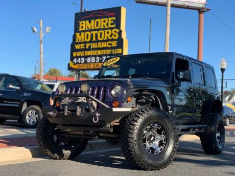 2007 Jeep Wrangler Unlimited for sale at Bmore Motors in Baltimore MD