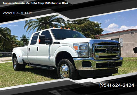 2014 Ford F-350 Super Duty for sale at Transcontinental Car in Fort Lauderdale FL