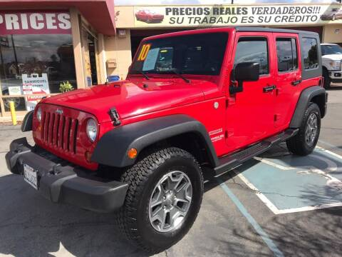 2010 Jeep Wrangler Unlimited for sale at Sanmiguel Motors in South Gate CA