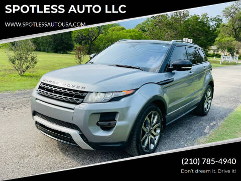 2012 Land Rover Range Rover Evoque for sale at SPOTLESS AUTO LLC in San Antonio TX