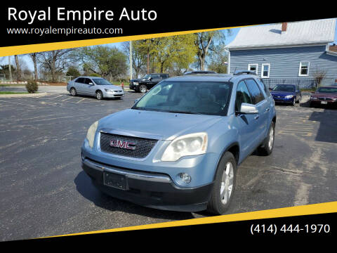 2007 GMC Acadia for sale at Royal Empire Auto in Milwaukee WI