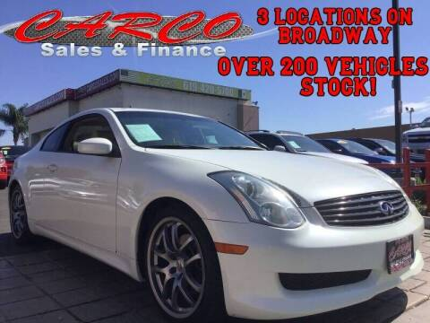 2006 Infiniti G35 for sale at CARCO SALES & FINANCE #2 in Chula Vista CA