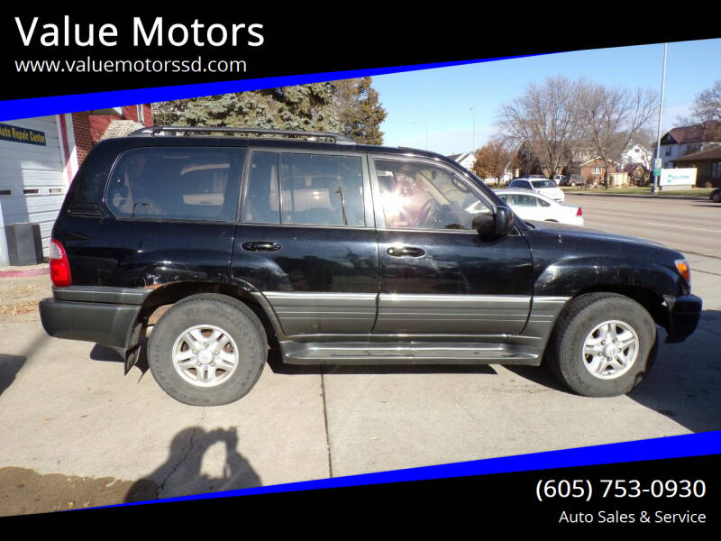 1999 Lexus LX 470 for sale at Value Motors in Watertown SD