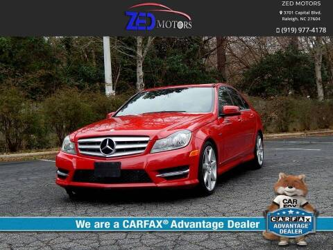 2012 Mercedes-Benz C-Class for sale at Zed Motors in Raleigh NC