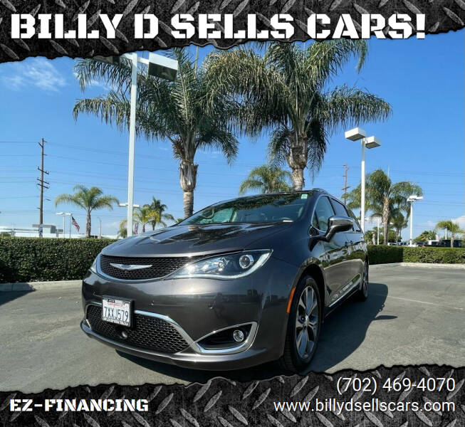 2017 Chrysler Pacifica for sale at BILLY D SELLS CARS! in Temecula CA