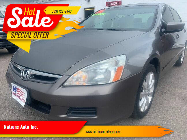 2006 Honda Accord for sale at Nations Auto Inc. in Denver CO