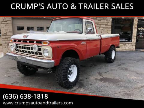 1965 Ford F-100 for sale at CRUMP'S AUTO & TRAILER SALES in Crystal City MO
