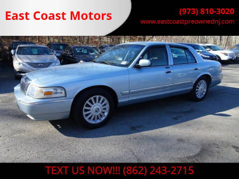 2008 Mercury Grand Marquis for sale at East Coast Motors in Lake Hopatcong NJ