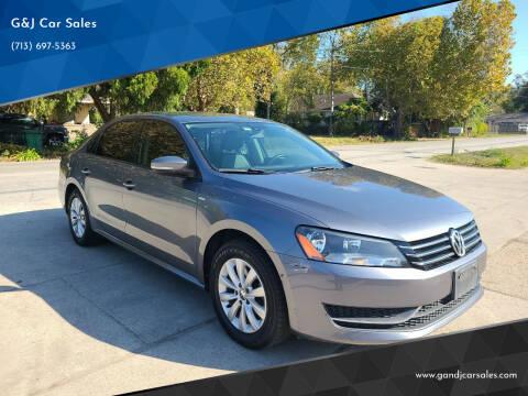 2014 Volkswagen Passat for sale at G&J Car Sales in Houston TX