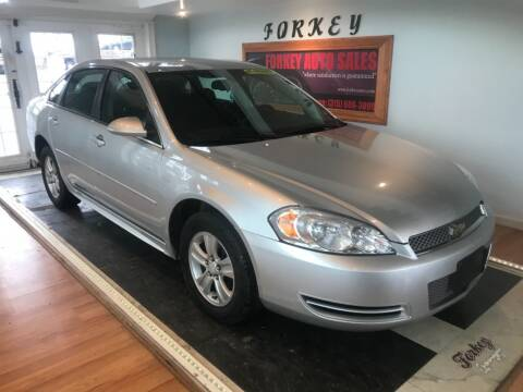 2012 Chevrolet Impala for sale at Forkey Auto & Trailer Sales in La Fargeville NY