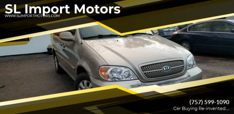 2004 Kia Sedona for sale at SL Import Motors in Newport News VA