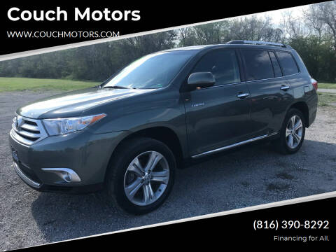 2013 Toyota Highlander for sale at Couch Motors in Saint Joseph MO