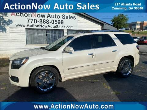 2014 GMC Acadia for sale at ACTION NOW AUTO SALES in Cumming GA