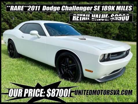 2011 Dodge Challenger for sale at United Motorsports in Virginia Beach VA