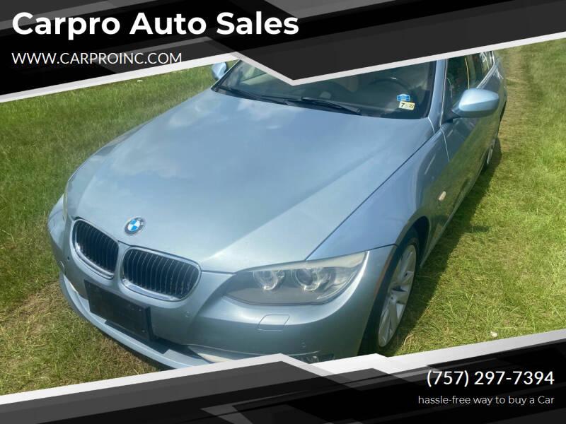 2012 BMW 3 Series for sale at Carpro Auto Sales in Chesapeake VA