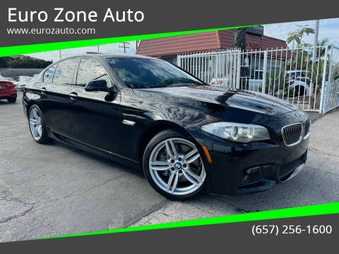 2013 BMW 5 Series for sale at Euro Zone Auto in Stanton CA