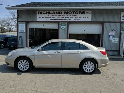 2013 Chrysler 200 for sale at Richland Motors in Cleveland OH