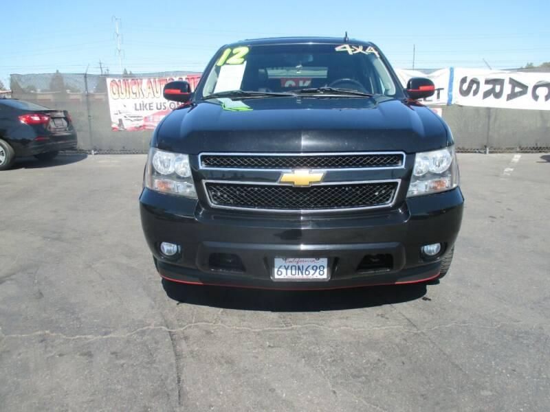 2012 Chevrolet Tahoe for sale at Quick Auto Sales in Modesto CA