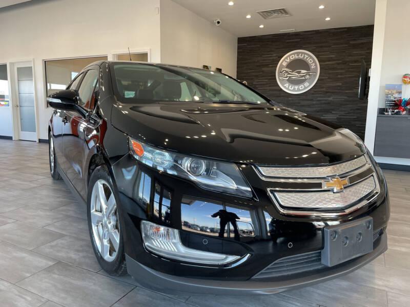 2012 Chevrolet Volt for sale at Evolution Autos in Whiteland IN
