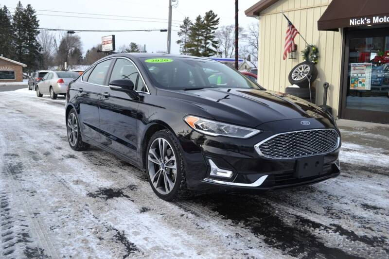 2020 Ford Fusion for sale at Nick's Motor Sales LLC in Kalkaska MI