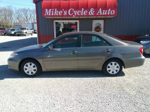 2003 Toyota Camry for sale at MIKE'S CYCLE & AUTO in Connersville IN