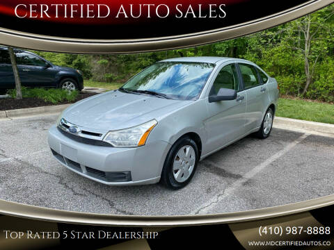 2009 Ford Focus for sale at CERTIFIED AUTO SALES in Severn MD