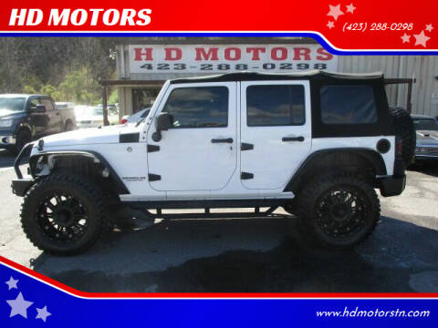2016 Jeep Wrangler Unlimited for sale at HD MOTORS in Kingsport TN