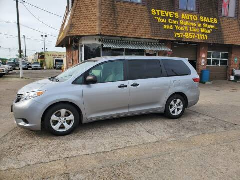 2016 Toyota Sienna for sale at Steve's Auto Sales in Norfolk VA