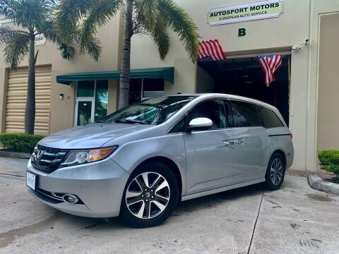 2015 Honda Odyssey for sale at AUTOSPORT MOTORS in Lake Park FL
