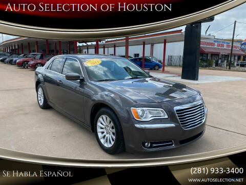 2013 Chrysler 300 for sale at Auto Selection of Houston in Houston TX