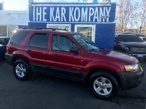 2007 Ford Escape Hybrid for sale at The Kar Kompany Inc. in Denver CO