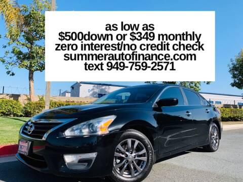2015 Nissan Altima for sale at SUMMER AUTO FINANCE in Costa Mesa CA